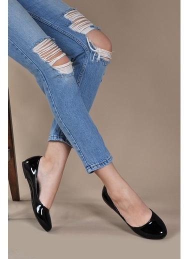 Vizon Ayakkabı Babet Siyah